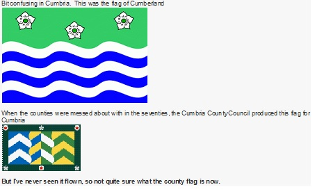 Cumberland flags discussion on forum.