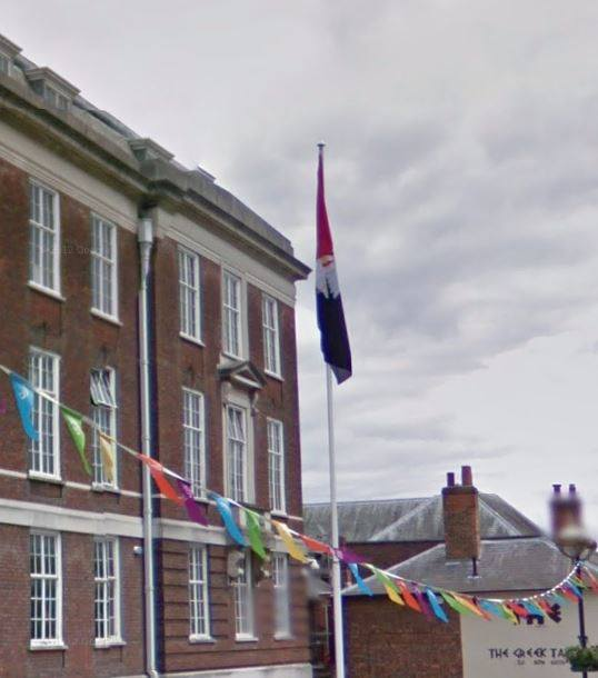the-flag-of-buckinghamshire-flies-at-the-council-offices-in-aylesbury
