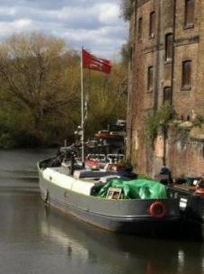 An Essex flag afloat.
