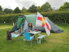 Camping with the West Riding flag from Dave Whittaker.