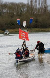 The Essex flag, often found on vessels around the coast and county inlets.