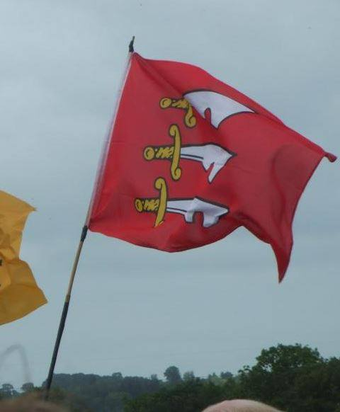 The flag of Essex at Glastonbury 2014.jpg