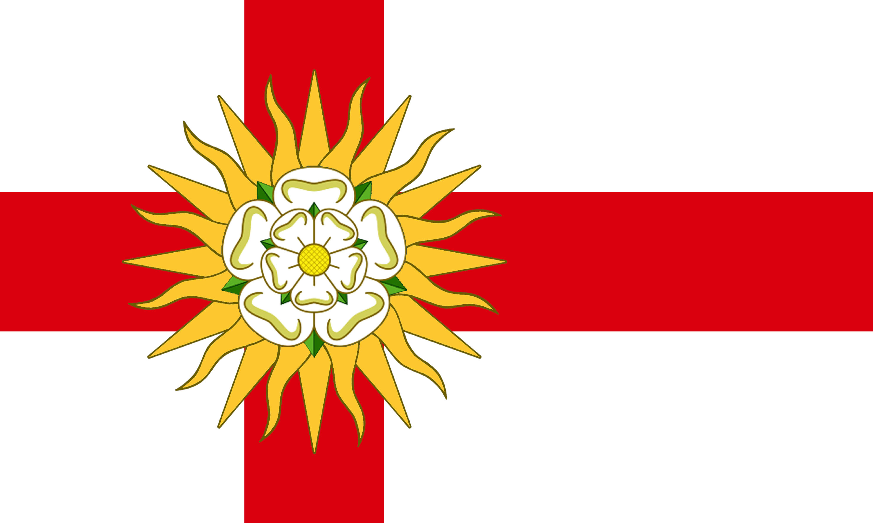 Flag gallery british county flags - West Riding Flag