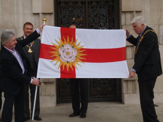 West Riding Flag Unfurling