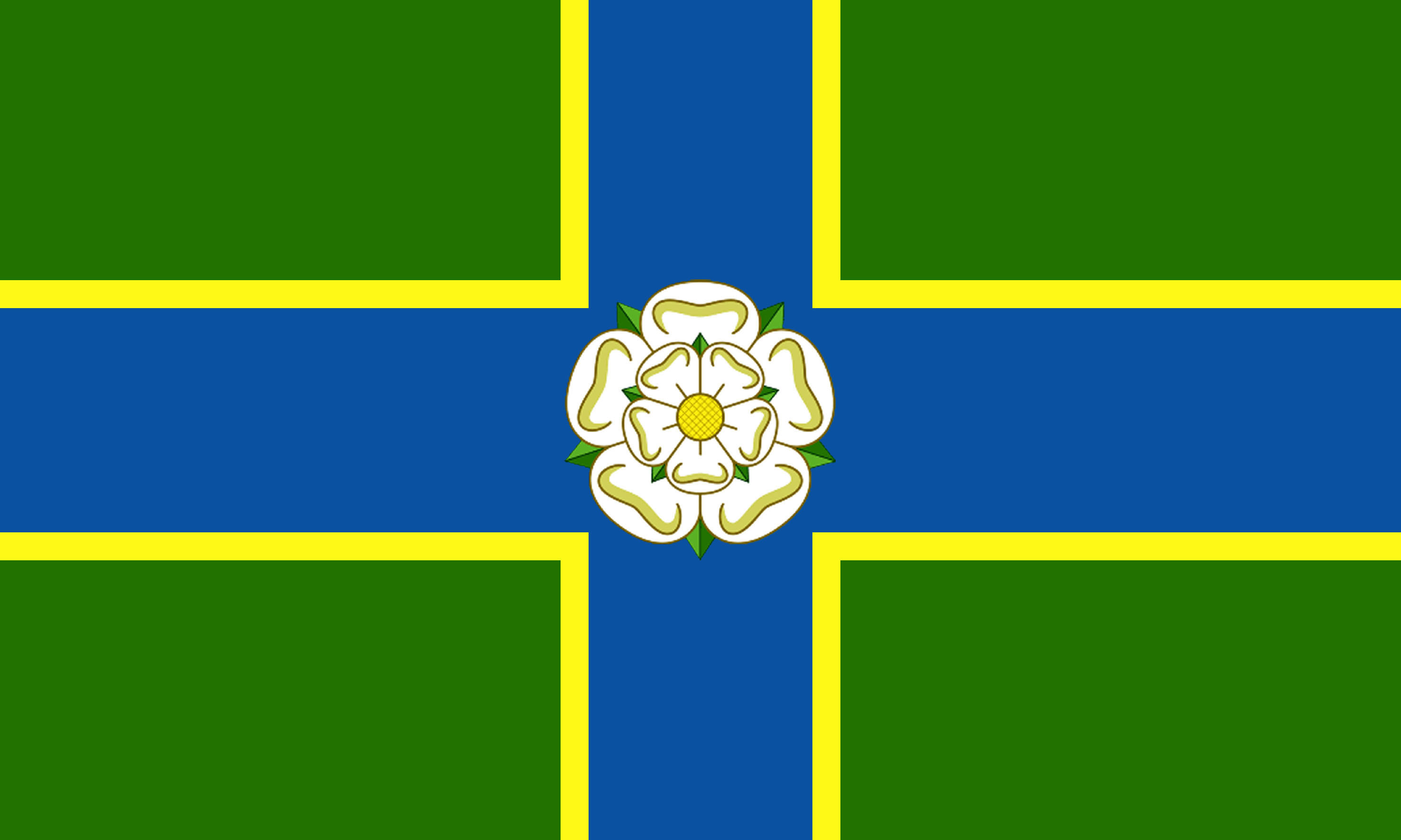 Flag gallery british county flags - North Riding Flag