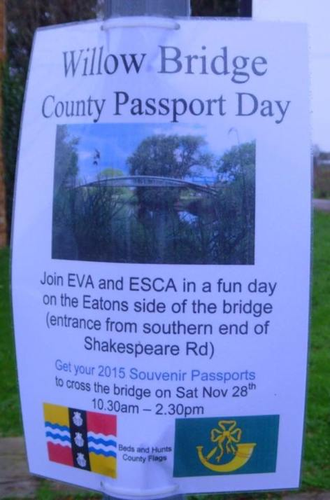 The Eatons Community Association county passports on Willow Bridge.3