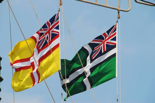 The wholly unofficial but particularly attractive Devon and Dorset ensigns from Shaun Jones. A really nice photo too!