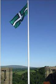 A flag of Devon over Dartmoor, from Dominic Smith.