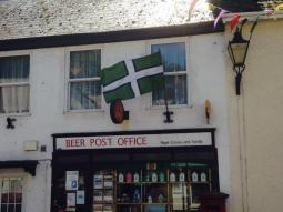 County flags abound in the small Devon town of Beer 5