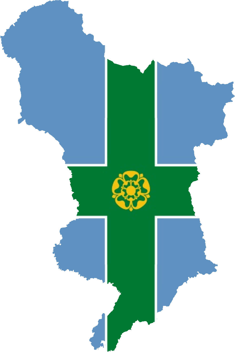 DERBYSHIRE FLAG 5/' x 3/' English Counties England County Flags Derby
