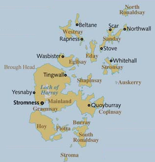 Orkney Map