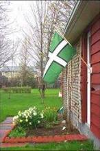 The flag of Devon flying domestically. Photo located by Dominic Smith.