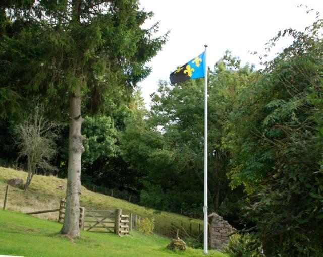 20130925-monmouthshire-flag-craig-y-dorth-st-cadocs-day