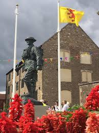 The Somerset flag flies as part of the Frome War Memorial.