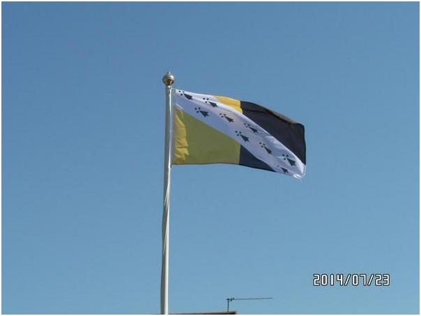 NORFOLK FLAG IN FLIGHT (2)
