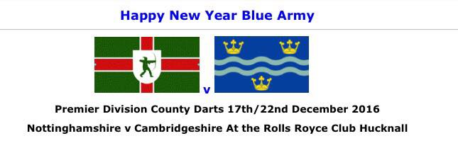 The Cambridgeshire county darts team proudly sports its county flag on its website and the sleeves of the team shirts.2