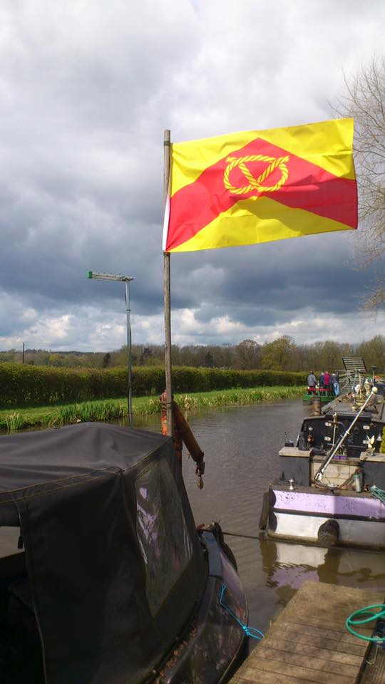 A magnificent photo of the Staffordshire flag on the Trent & Mersey canal (2)
