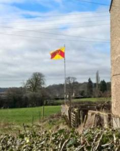 The Staffordshire flag flies, located by Dominic Smith.