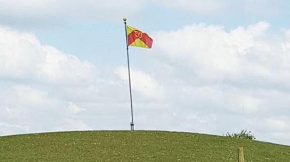 The Staffordshire flag flying in the county2.