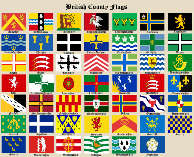 County Flags Chart August 5th 2017
