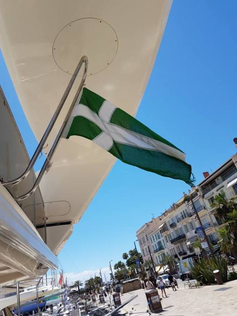 The Barra flag making an appearance in Cannes