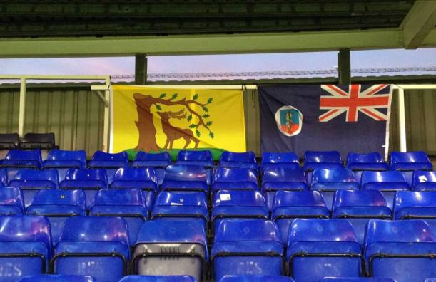 The county flag displayed by supporters of Maindenhead United FC, Berkshire