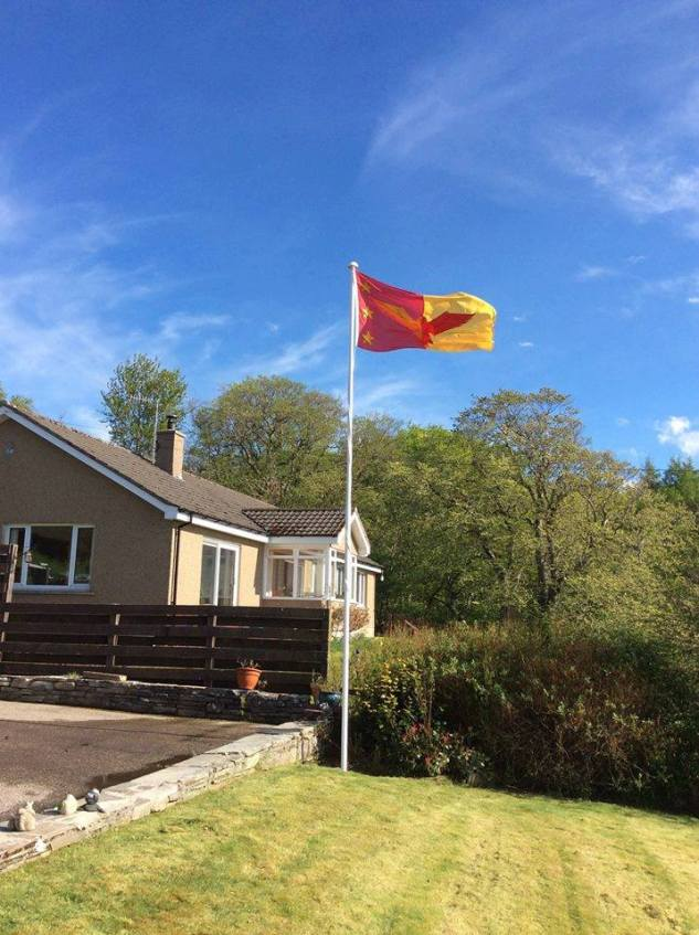 A great photo of the Sutherland flag