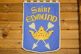 Banner in St Edmund's church, Parksville, British Columbia, Canada