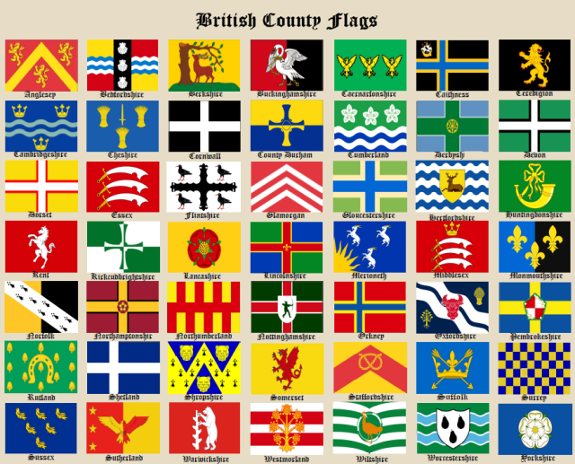 County Flags Chart Jan 29th 2018