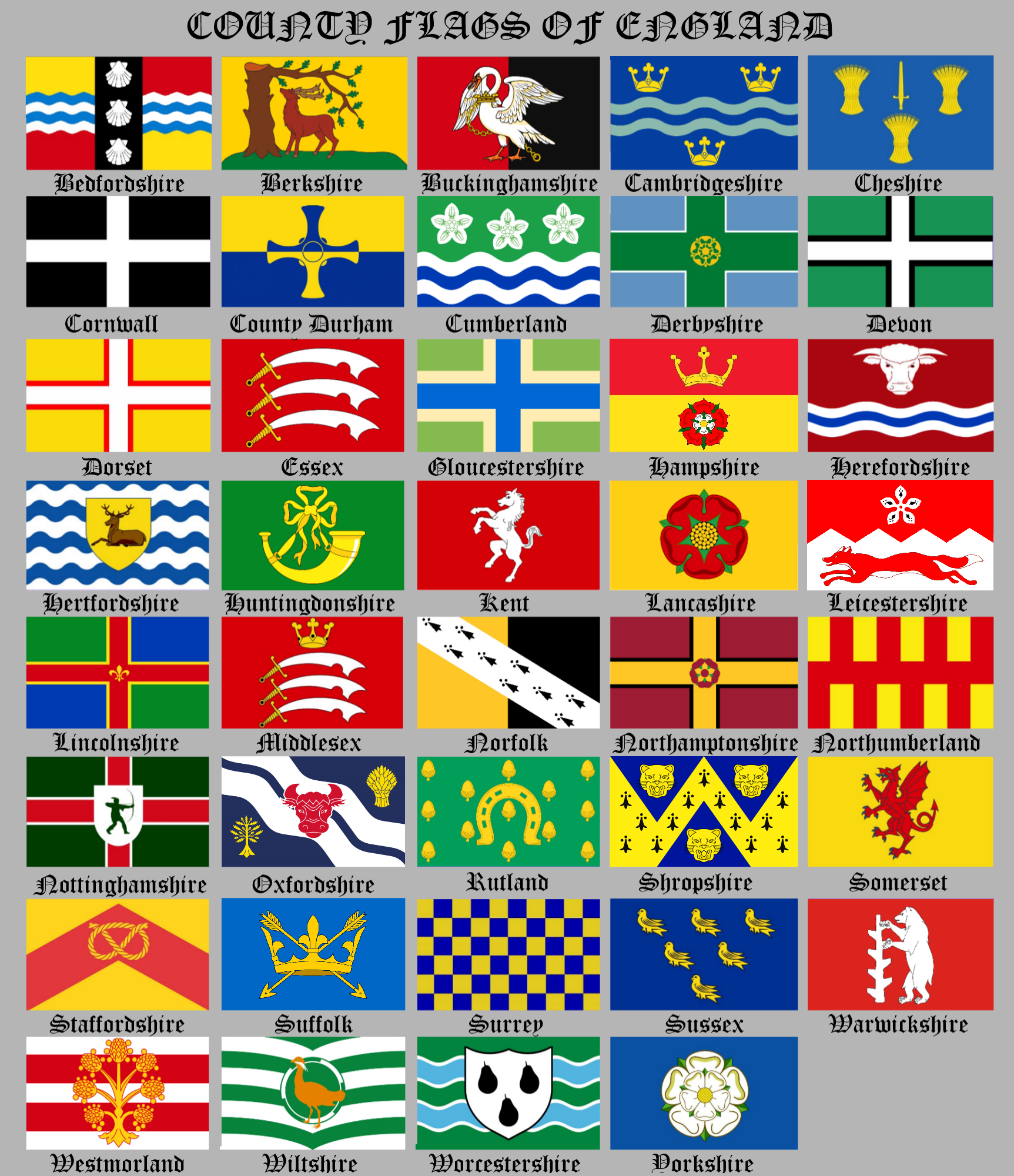 English County Flags | British County Flags