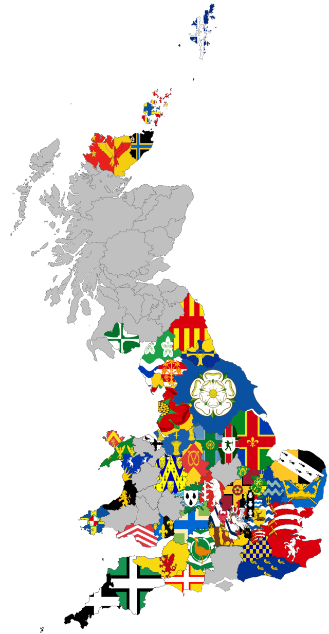 GB County Flags Maps 29-1-18