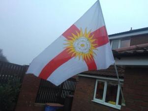 Another image of the West Riding flag flying today, from Ian Hewitt.