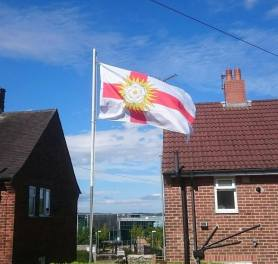 West Riding flag in Leeds from Phil Sharp.