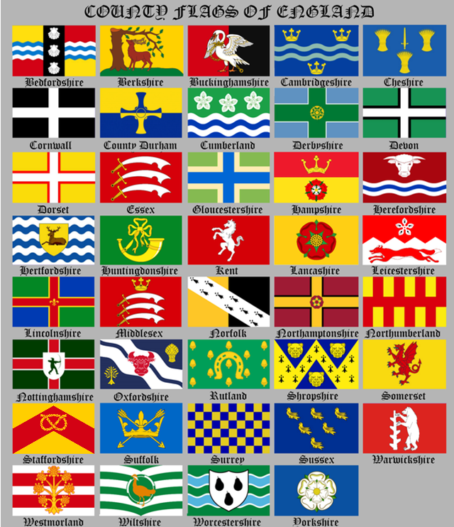 county flags of england chart original british county flags