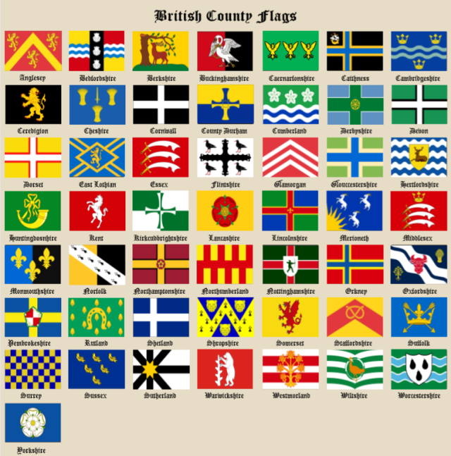 County Flags Chart December 15th 2018