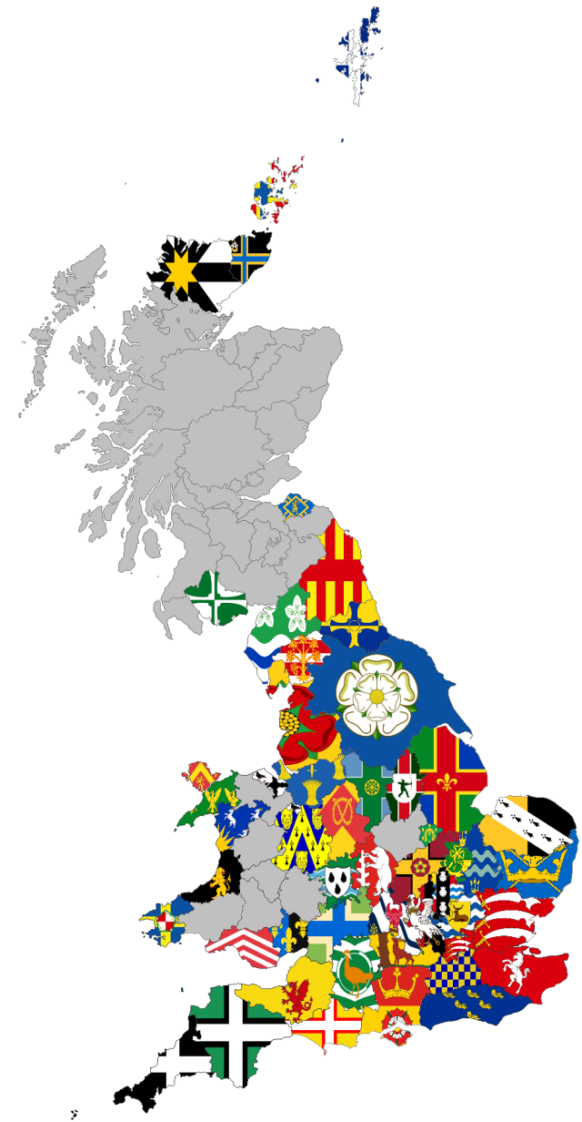 GB County Flags Maps 12-03-19