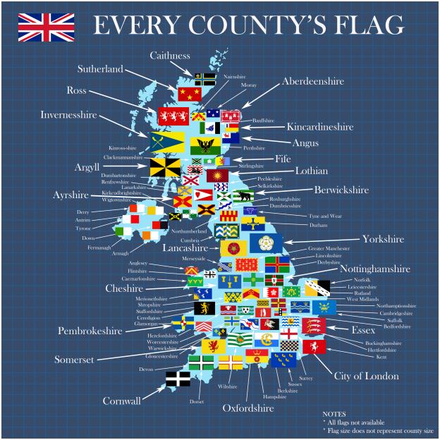 GLOUCESTERSHIRE Flying Flag UK Vinyl Sticker Decal