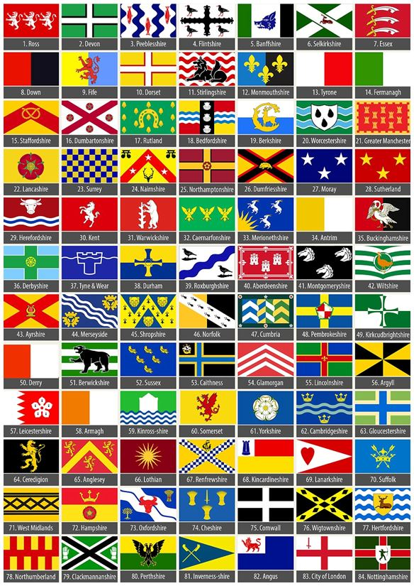 HAMPSHIRE FLAG 5/' x 3/' Official New Design England English County