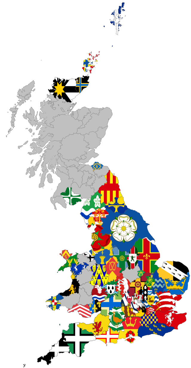 GB County Flags Maps 02-11-19